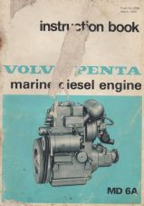 Volvo Penta Instruction Booklet MD 6A
